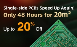 ALLPCB, single-side PCB, speed up